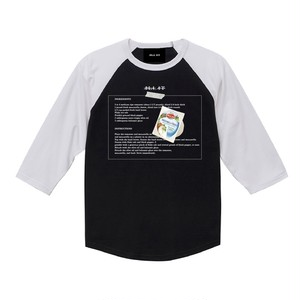 ILL IT - CHEESE RAGLAN T-SHIRT (BK×WHT)