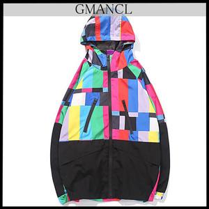 【GMANCL】マルチカラーウインドブレーカージャケット