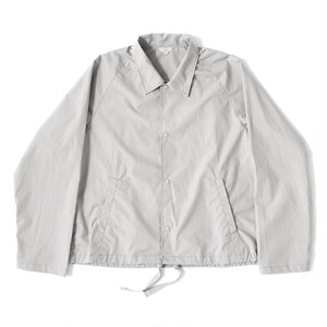 【FILL THE BILL】《MENS》PIN CHECK SHORT COACH JACKET - SILVER