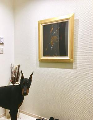 オーダー ペット肖像画 F10号