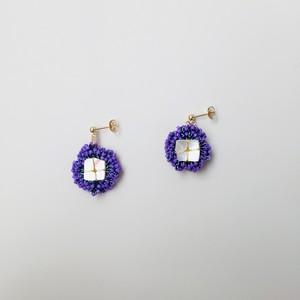 {Garden} Shell Flower EARRINGS - violet -