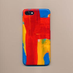 赤いライン スマホケース iPhone専用 Lサイズ(送料込み)