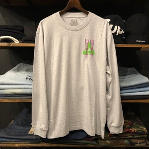 【palace skateboards】-パレススケートボード-PAIR OF HIPPYS LONG SLEEVE GREY