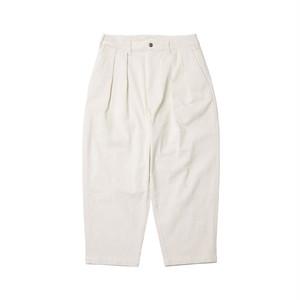 EVISEN BOHEMIAN CORD PANTS WHITE L