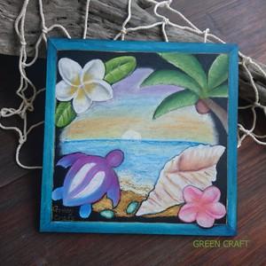 ホヌと海のハワイアンボード