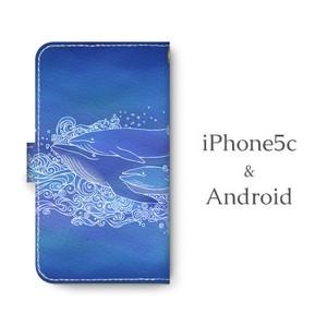 Android用 くじらFAM 手帳型マルチスマホケース
