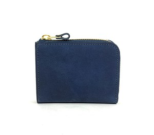 RE.ACT Solid Indigo L-Fastener Short Wallet