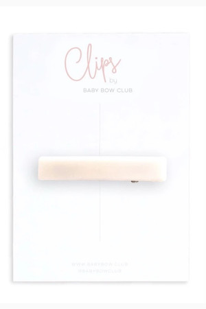 BABY BOW CLUB Bar Clip // Sand