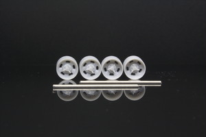 7mm Cragar 390 タイプ 3Dプリント ホイール 1/64 未塗装