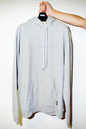 "Rakugaki ""MAIN LOGO"" Embroidery Hoodie Gray × Gray"
