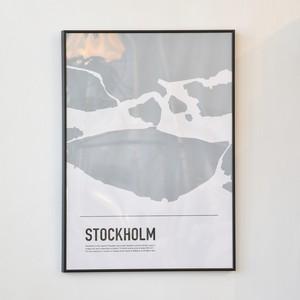 ポスター50cm×70cm /Stockholm map(フレーム付き)