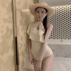 ୨୧ one shoulder frill swim wear