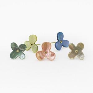 Cohana かわいい 貝釦のお花のプッシュピン いろどり
