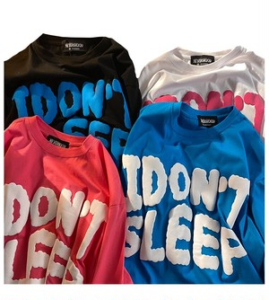 ★UNISEX IDontSleepTシャツ(White,Pink,Blue,Black) 59