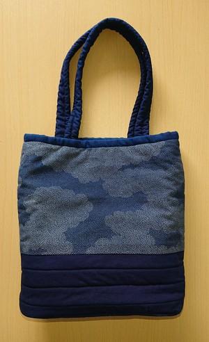 ◆トートバッグ◆本藍染手作りバッグ