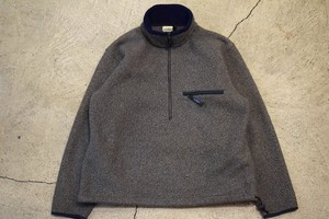 USED 80s L.L.Bean pullover Fleece Jacket -M-L F0688