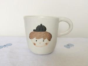 コーヒーカップ 男の子 茶髪