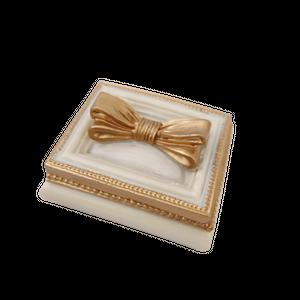 Gold ribbon accessory case / ゴールドリボン小物入れ