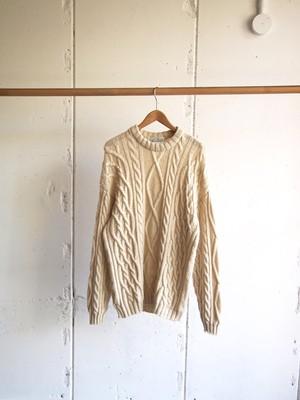 USED / MARKS&SPENCER,  Fiisherman Aran Knit Sweater