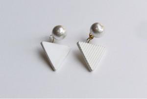△PIERCE / EARRING【WHITE】