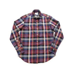 GIANNETTO / ジャンネット マドラスチェック セミワイドカラーシャツ