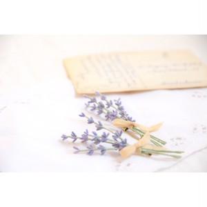 摘みラベンダーの小さな花束(ブローチ)