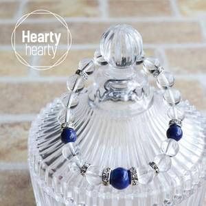 【LUXE Blue Petit】パワーストーン ブレスレット レディース 天然石 ラピスラズリ 水晶 クラック水晶[送料無料]