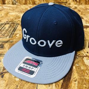 GrooveCAP(GRAY×NAVY) Groove Logo