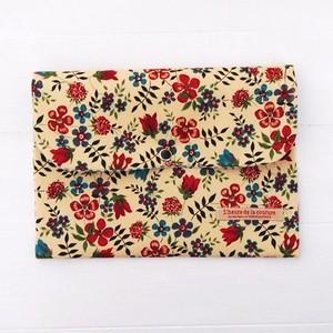 リバティ 母子手帳ケース エディナム/レッド×ブルーグリーン B6サイズ パスポートケース