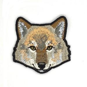 ヨーロッパオオカミの刺繍ワッペン
