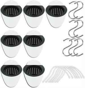 プランター 自己給水 植木鉢 ガーデニング 庭 プラスチック製 家庭植物 花 サボテン フック付き (135mm 7個セット)