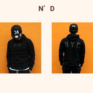 KISS NYC/サーマル/プルオーバーパーカー/ブラック