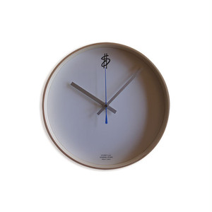 """Time is money"" Wall Clock by SAITO WOOD"
