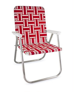 Lawn Chair Deluxe (Red and white Stripe)