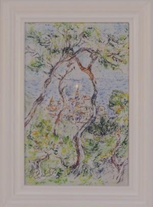 モネの風景再構成 パステル画 手描き