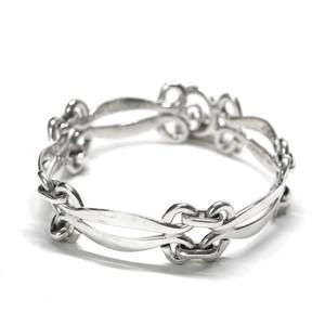 Vintage Mexican Modern Design Chain Link Toggle Bracelet