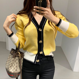 yellow by  color cardigan