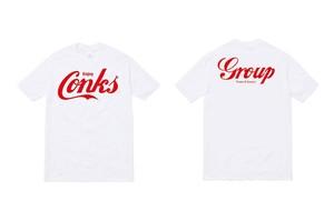 【kids用】 白×赤 CONKS GROUP オリジナルTシャツ