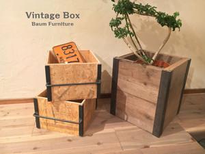木箱 ビンテージ風 アイアン 引き出し [Vintage Box]