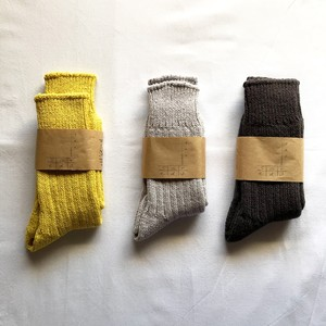 < saredo-されど-> RECYCLED COTTON basic rib socks 「Pelitan」