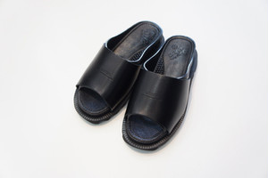 BENSAN-D COVERED LEATHER SHARK SOLE -BLACK- / bench