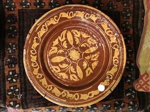 アフガニスタン アンティーク陶器皿2