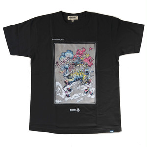 ROPH X MAGICNUMBER freeform jazz T-shirts BLACK