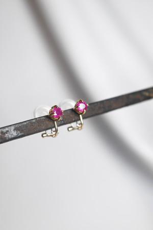 K18 Ruby Clip Earrings 18金ミャンマー産ルビークリップイヤリング