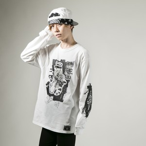 Bad Owl Long Sleeve T-shirt  White