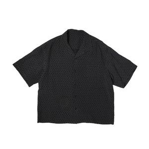 LOGO PATTERN SHIRTS / BLACK