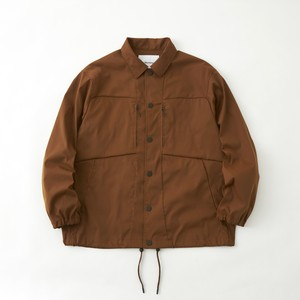 STRETCHED TWILL COACH JACKET - CAMEL