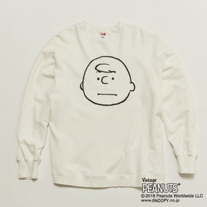 再入荷!! CHARLIE BROWN VTG BIG SWT - WHITE