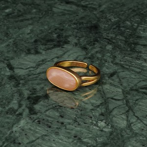 OVAL STONE RING GOLD 003