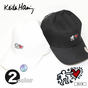 ベルトでサイズ調節可能!Keith Haring(キース・ヘリング) 刺繍 キャップ★【CAP/帽子】【宅配便のみ】
